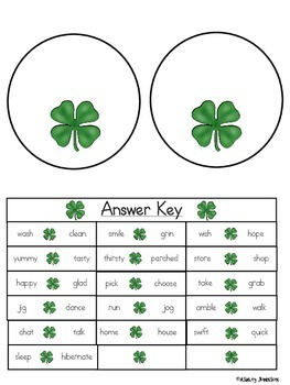 St. Patrick's Day Synonym Match