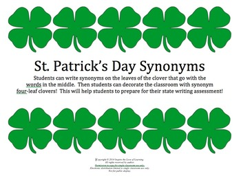 St. Patrick's Day Synonyms