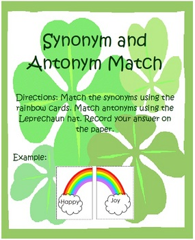 St. Patrick's Day Synonyms and Antonyms Center