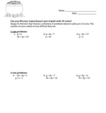 St. Patrick's Day Systems of Equations 12 Point Challenge