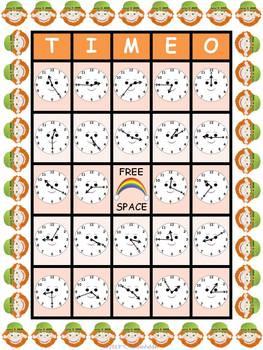 St. Patrick's Day TIME O Bingo CCSS 2.MD.7