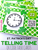 St. Patrick's Day TIME QR Code Task Card Fun