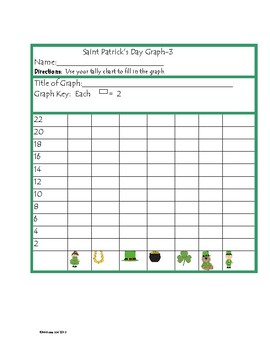 Graphing, Tally Charts and Problem Solving St. Patrick's Day Theme