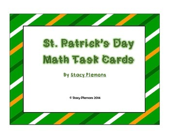 St. Patrick's Day Task Cards