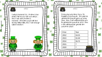 March Math Task Cards