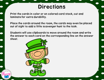 St. Patrick's Day Task Cards - Addition