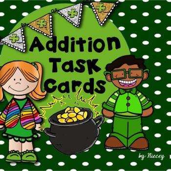 St. Patrick's Day Task Cards - Addition
