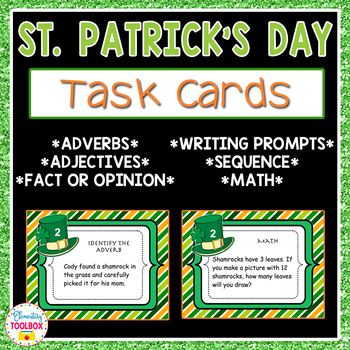 St. Patrick's Day Task Cards-ELA and Math