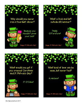 St Patricks Day Cards and Writing Paper Templates