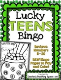 St. Patrick's Day Teen Number Bingo --- Lucky TEENS Bingo --- Numbers 11-20