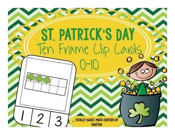 St. Patrick's Day Ten Frame Clip Cards
