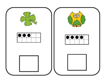 St. Patrick's Day Ten Frame Games