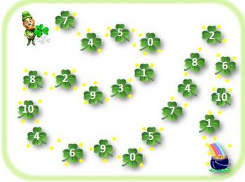 St. Patricks Day Ten Frame Math Game