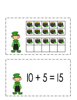 St. Patrick's Day Ten Frames 10-20