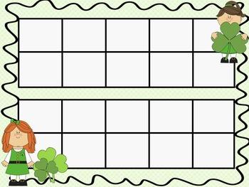 St. Patrick's Day Ten Frames - 10 QUICK Prep Pages!