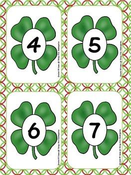 St Patrick's Day Ten Frames