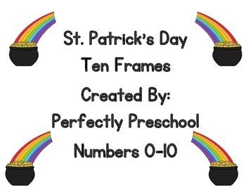 St Patrick's Day Ten Frames {Dollar Deal}