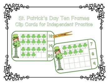 St. Patrick's Day Ten Frames - Counting to Twenty