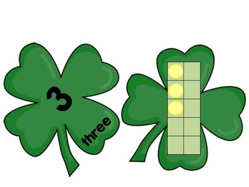 St. Patrick's Day Tens Frames Freebie Math Center Special Education & Autism