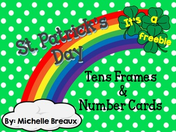 St. Patrick's Day Tens Frames Freebie Math Center Special