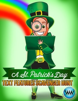 St. Patrick's Day Text Features Scavenger Hunt