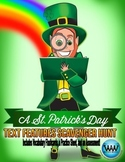 St. Patrick's Day Text Features Scavenger Hunt (3 Activiti