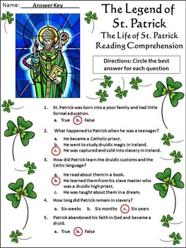 St. Patrick's Day Activities: The Legend of Saint Patrick Activity Packet