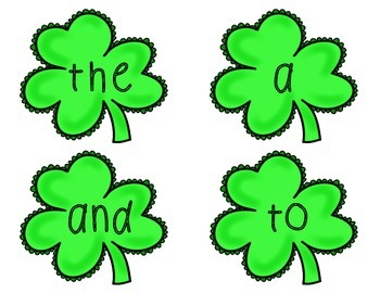 Sight Words: St. Patrick's Day Thematic Sight Word Cards