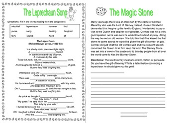 St Patrick's Day Thematic Unit (Intermediate) for Very Busy Teachers
