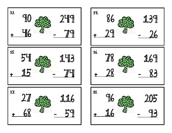 St. Patrick's Day Theme Comparing Numbers Scoot/Task Cards