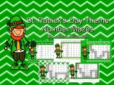 St. Patrick's Day Theme Number Mazes