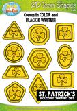 St Patricks Day 2D Icon Shapes Clipart {Zip-A-Dee-Doo-Dah Designs}