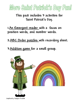 St. Patrick's Day Themed Activities