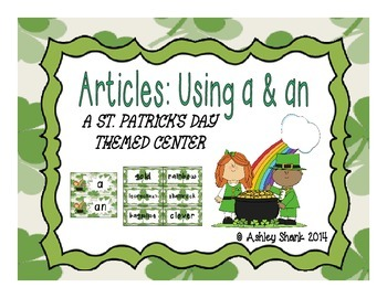 St. Patrick's Day Themed Articles Center: Using A and An