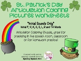 St. Patrick's Day Themed Articulation Coloring Pages