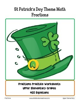 St Patrick's Day Themed Fractions, senior elementary