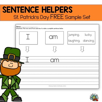 St. Patrick's Day Themed Mini Sentence Helpers Set-FREE!