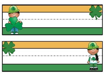 St. Patrick's Day  Nameplates Class Pack