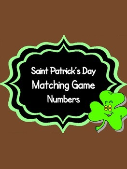 St. Patrick's Day Themed Number Matching