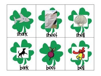 St Patricks Day Themed SH Minimal Pair Cards