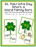 St. Patrick's Day Themed Short a Word Family Sort