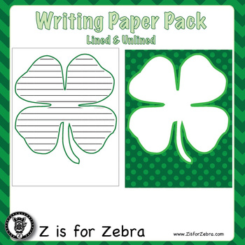 St Patrick's Day Themed Writing Paper! Lined & Unlined