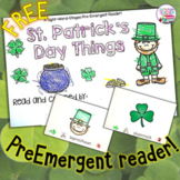 St. Patrick's Day PreEmergent Reader - free!