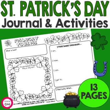 St. Patrick's Day Think Book Student Journal