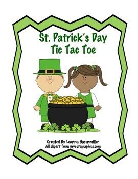 St. Patrick's Day Tic Tac Toe