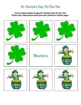 St Patrick's Day Tic Tac Toe