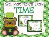 St. Patrick's Day Time (Hour and Half Hour) Task Cards
