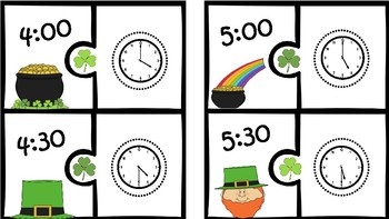 St. Patricks Day Time Puzzles