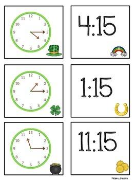 St. Patrick's Day Time Sort Math Station
