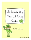 St. Patrick's Day Time and Money Math Centers